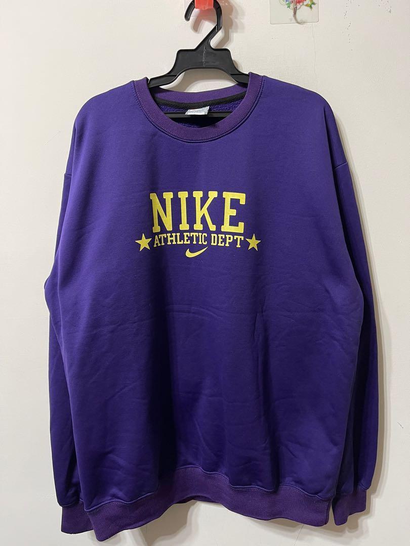 Nike 超厚刷毛大logo大學t