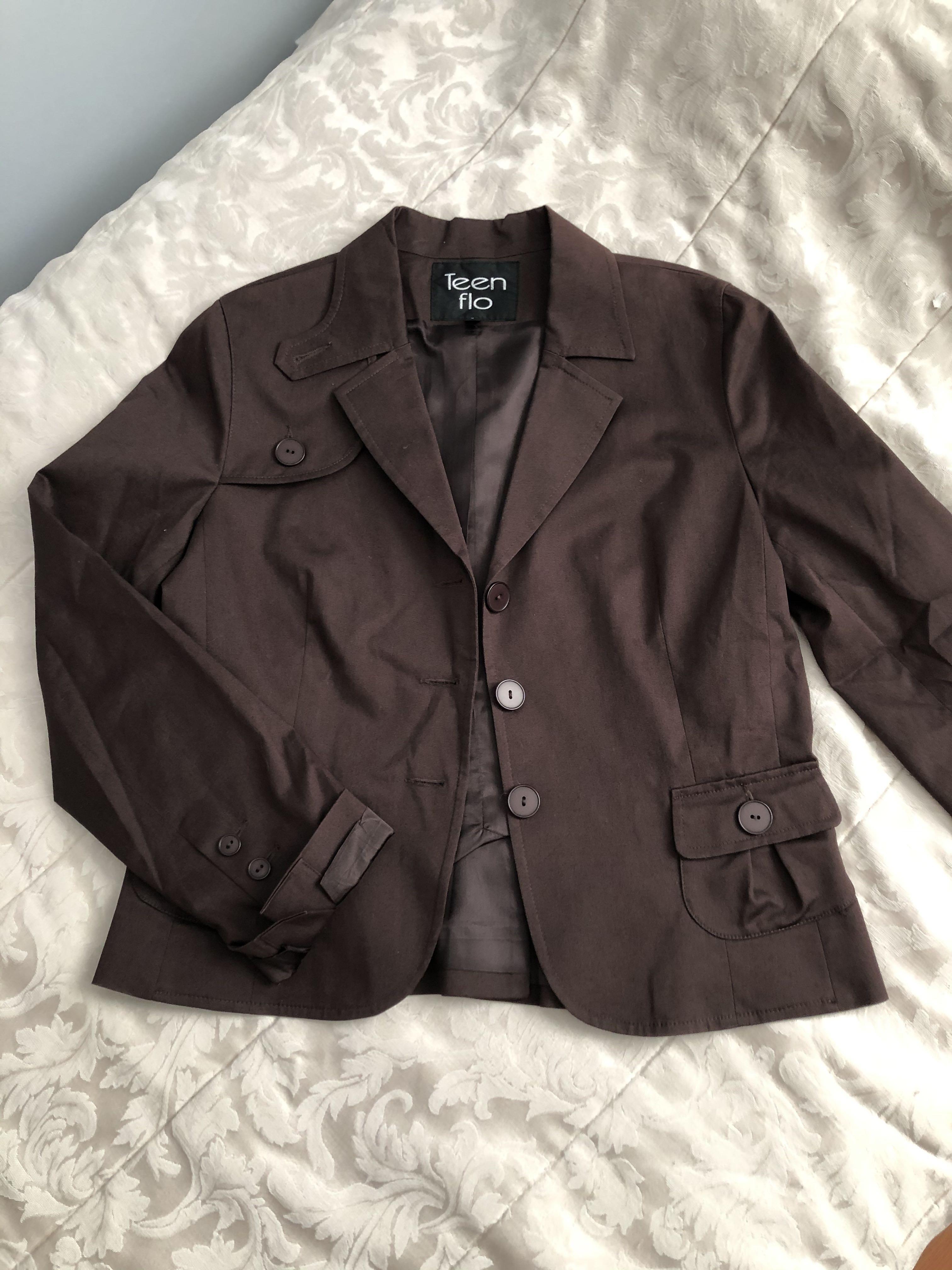 NWT brown blazer jacket