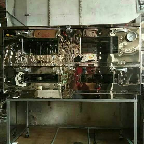 Oven gas stainless 120x55x70