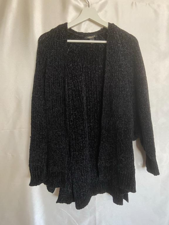 Revamped Sweater - Large - Black Soft Cardigan