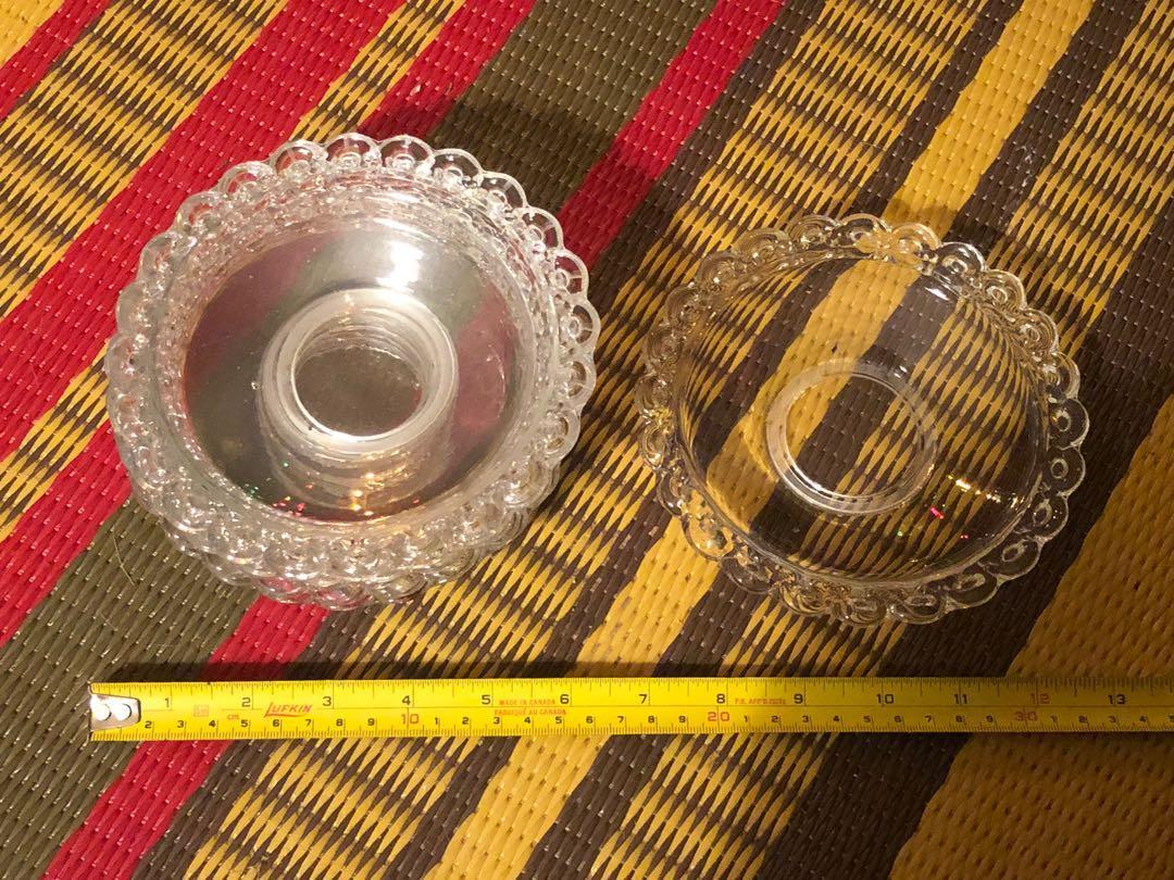 Set of six elegant glass side plates