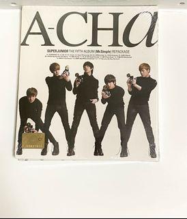 Super Junior 5輯 A-CHA 全新未拆封