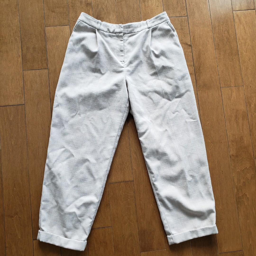 Topshop High Waisted Cropped Pants