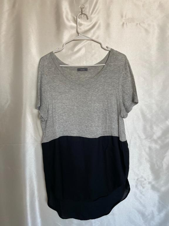 Two-Tone T-shirt - High Low Top - Large
