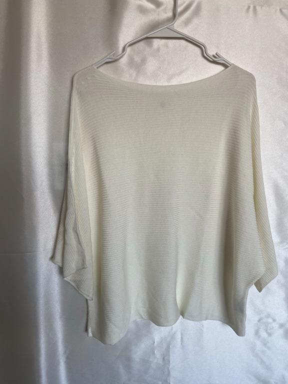 Uniqlo - White - Batwing Sweater - Large