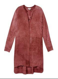 Wilfred (Aritzia) maroon silk button dress size xs