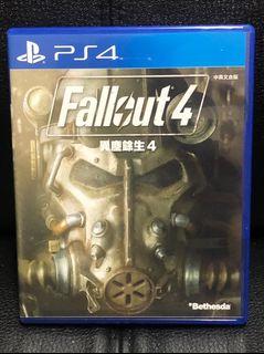 Fallout 4 ENGLISH 異塵餘生4 中英文版 附海報 PS4 遊戲 二手