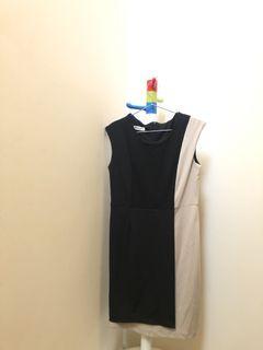 彈性修身簡約洋裝