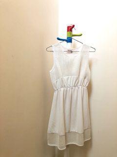 收腰網格甜美洋裝