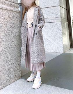 韓版翻領落肩大衣-內裡鋪棉保暖修身
