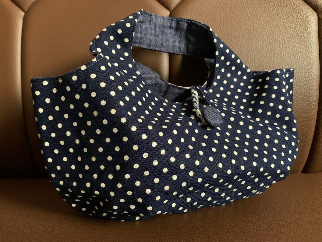 純手工 點點遇上條紋 包包/側背包