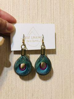 編織耳環 敘利亞婦女手作編織耳環 民族風