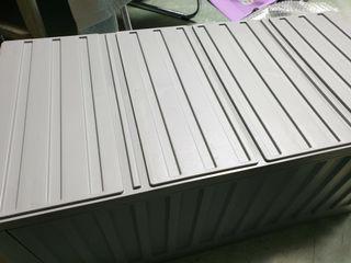 樹德貨櫃收納箱 灰色款 上蓋 可隔層