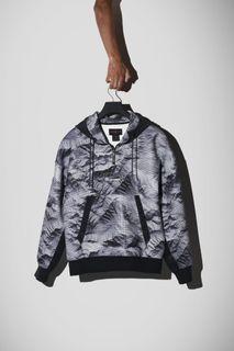 美國代購 Jordan 23 Engineered Men's Printed Pullover Hoodie 保暖帽T 黑白渲染 率性歐美款