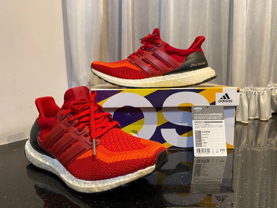 Adidas Ultra Boost 紅 日本購入 AQ4006 US7.5