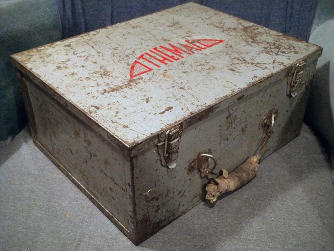 Antique themac Vintage Toolbox for themac tools grinder VERY RARE