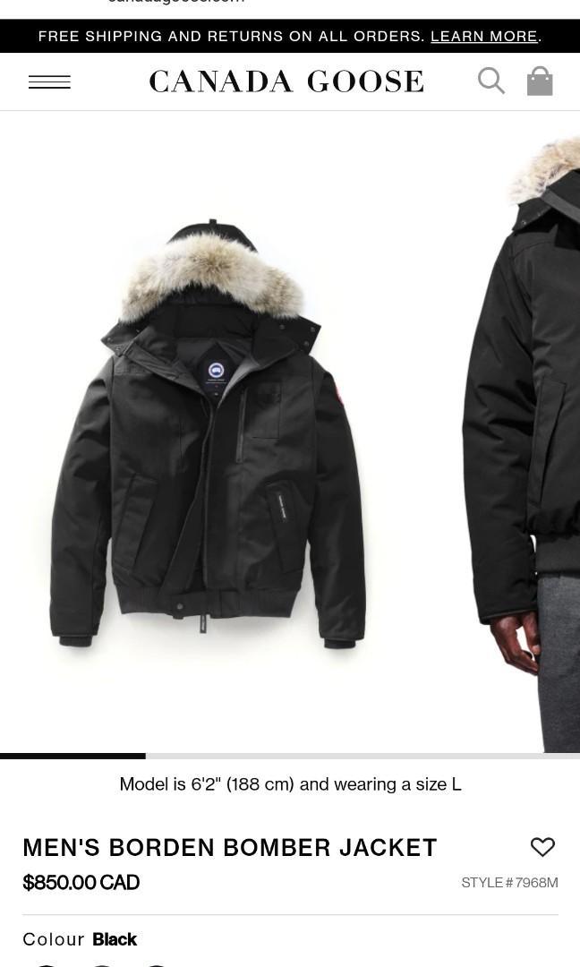 Canada Goose Borden Bomber Winter Jacket