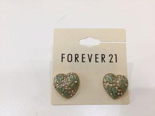 Forever 21 海洋之心耳環