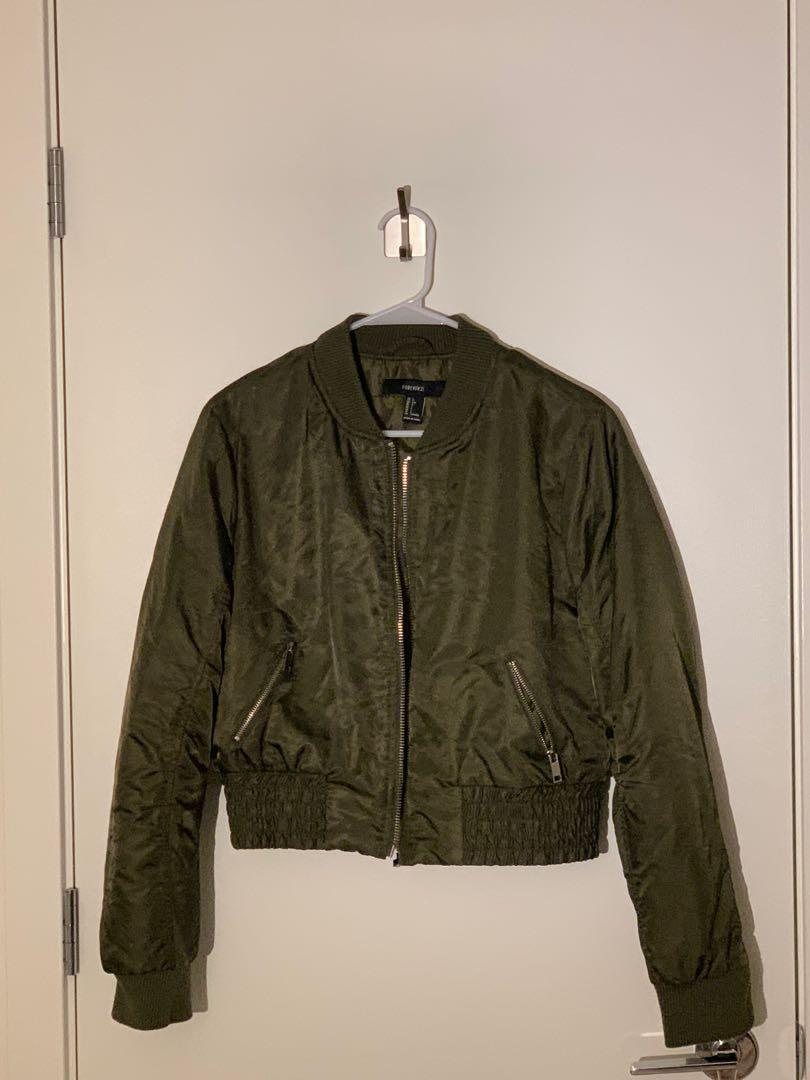 Forever 21 Bomber Jacket, Size L