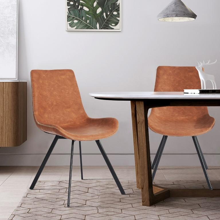 Galewood Wood Leg Upholstered Dining Chair