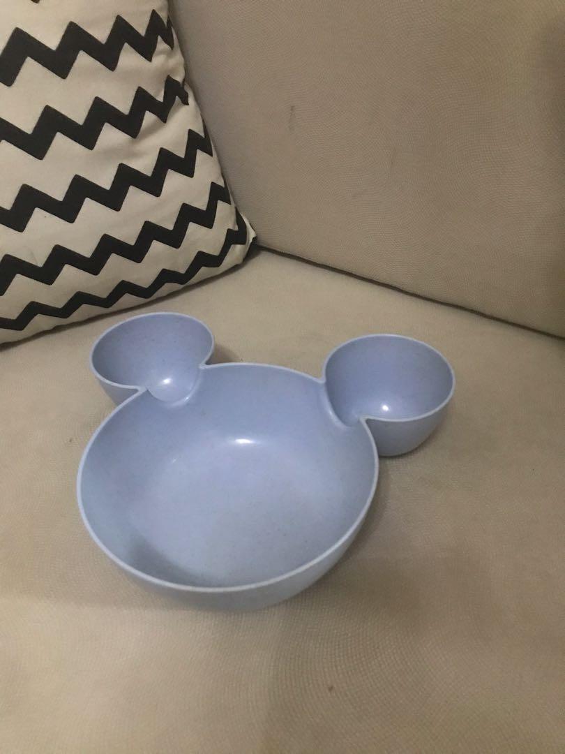 mangkok plastik bentuk mickey mouse