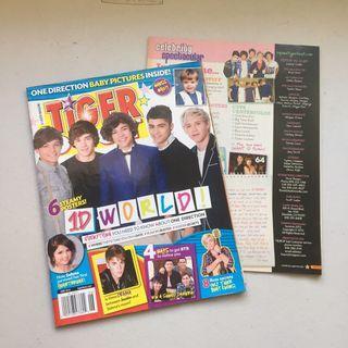 One Direction Tiger Beat Magazine
