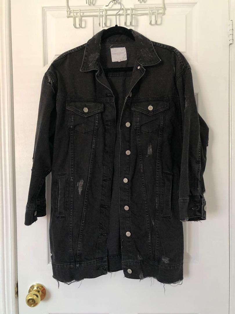 Oversized Zara Denim Jacket