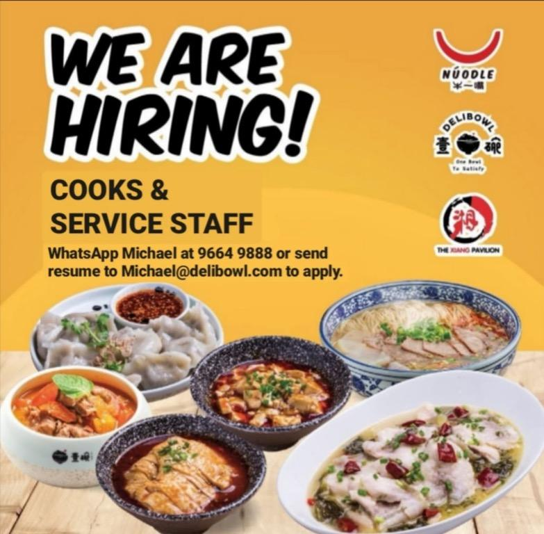 Full Time & Part Time Servers & Kitchen Assistants