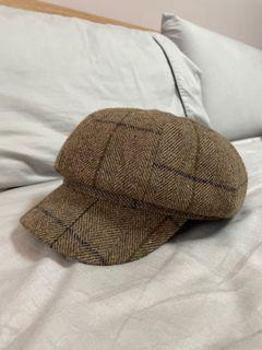 專櫃購入!英風格紋報童帽