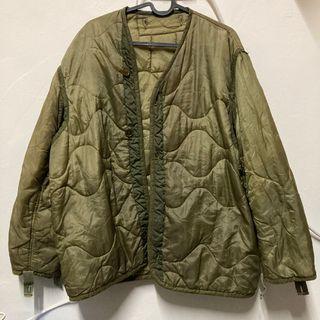 古著 綠色衍縫內裡外套