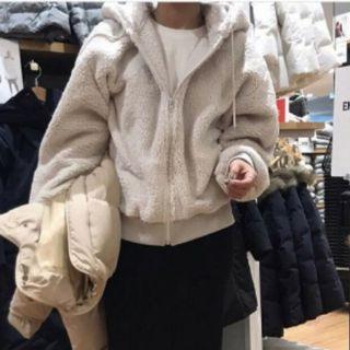 雙面絨毛羊羔毛 泰迪熊連帽口袋外套