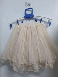 米白色 蕾絲 裙