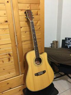(保存良好)二手民謠吉他 含琴袋 *原價7000