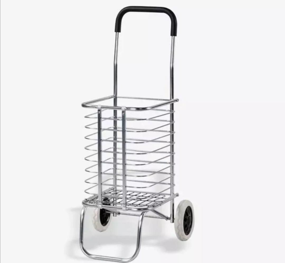 Aluminum shopping cart trolley