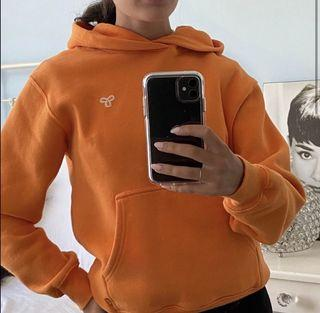 Aritzia Orange Perfect hoodie with logo