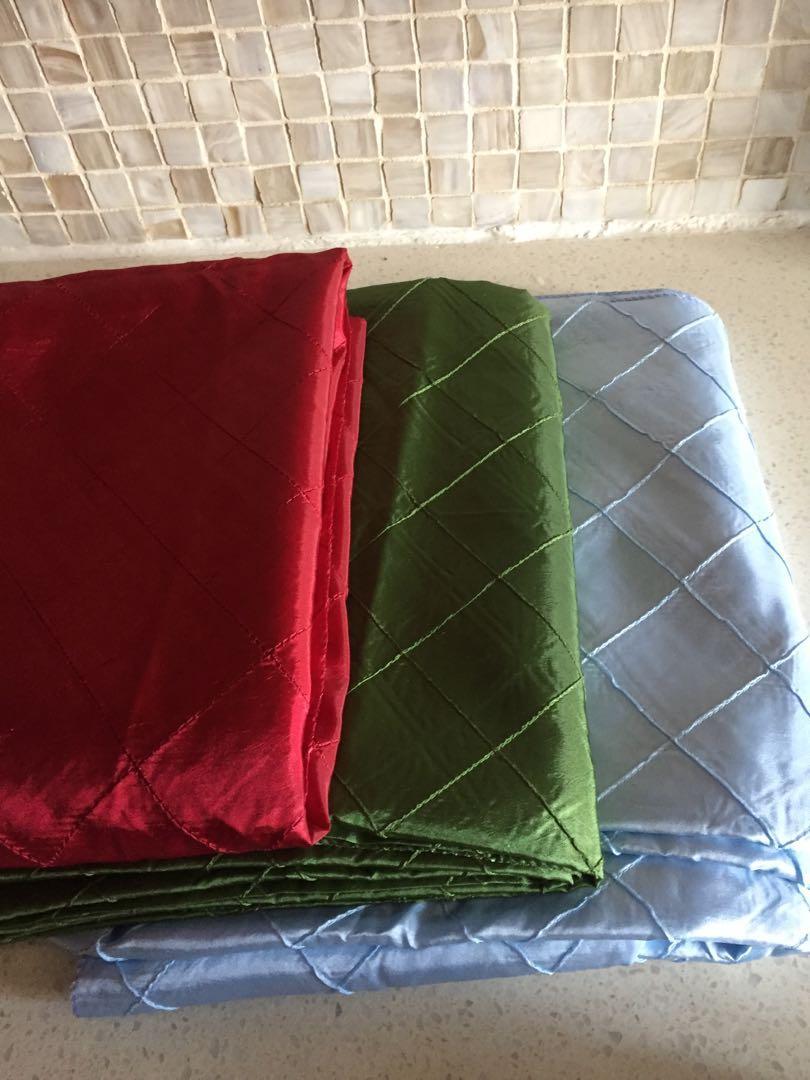 Assorted tablecloths $10 each
