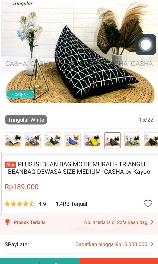 Bean Bag Medium Size dengan Isian