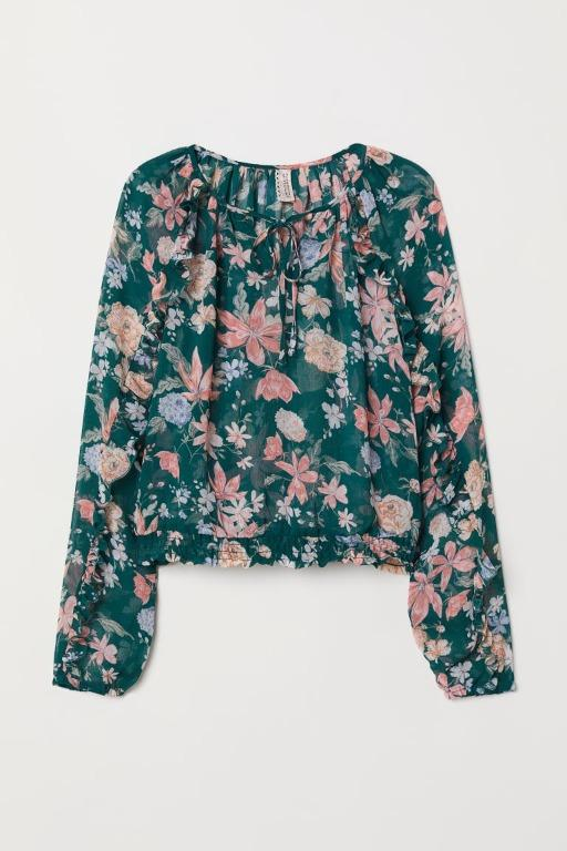 Brand New H&M Airy Blouse with Flounces