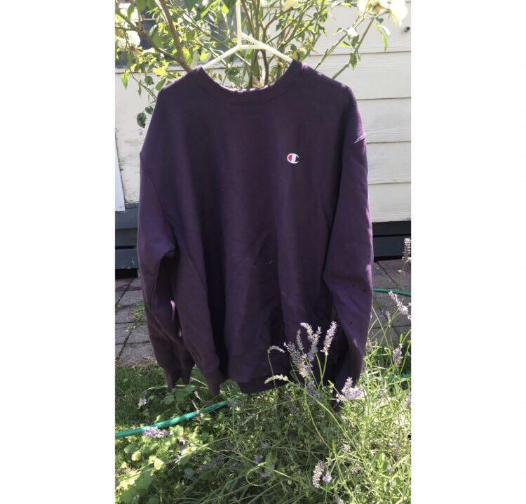 CHAMPION REVERSE WEAVE CREW - PURPLE PEBBLE