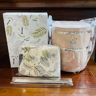 iTravel雙層保溫餐盒提袋組