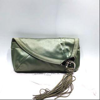 JIMMY CHOO WOMAN'S GREEN CLUTCH 217002571 -