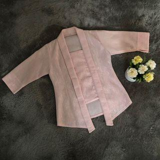 Kebaya kutu baru pink soft / pastel