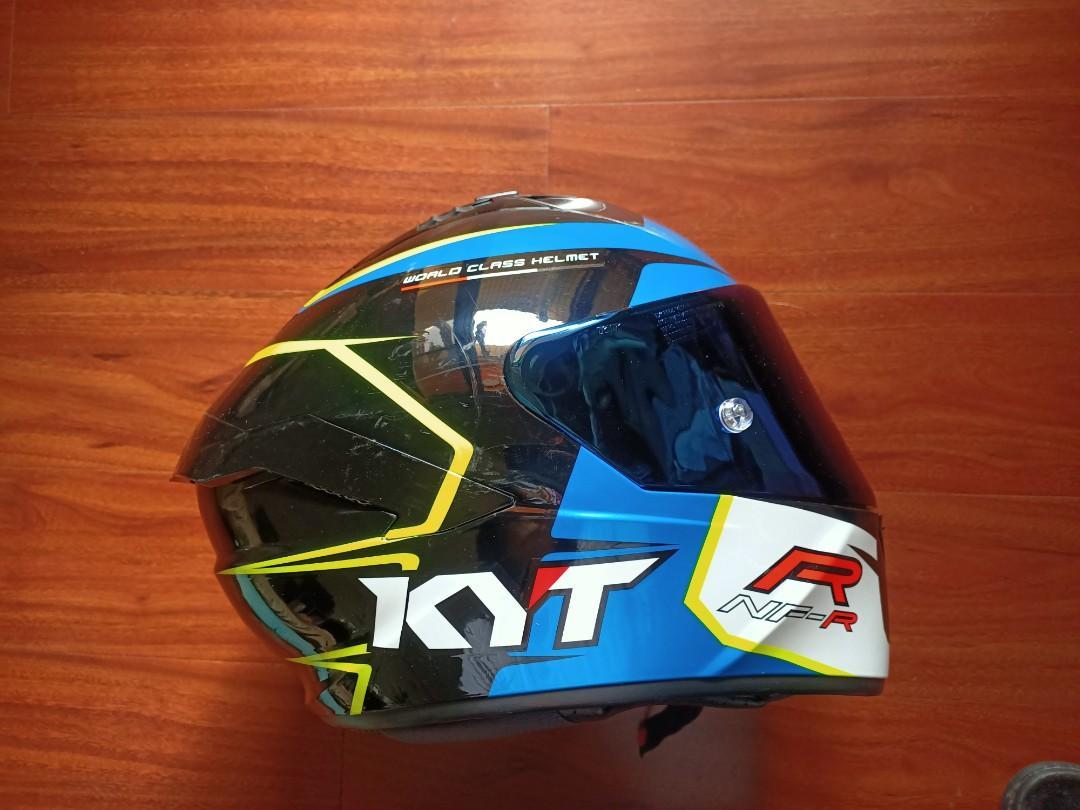 Kyt NFR 全罩 彩繪 藍 雙D扣 安全帽 大尺寸XL 送BKS1