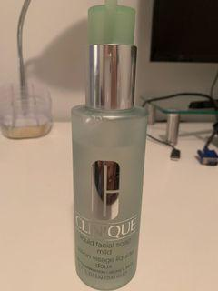 Lightly used Clinique liquid facial soap, mild