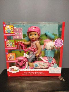Little Mommy Learn To Ride Doll with Pink Training Bicycle