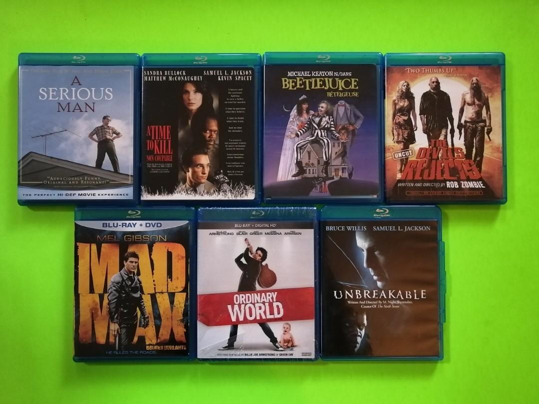 Lot of 7 Blu Ray Films
