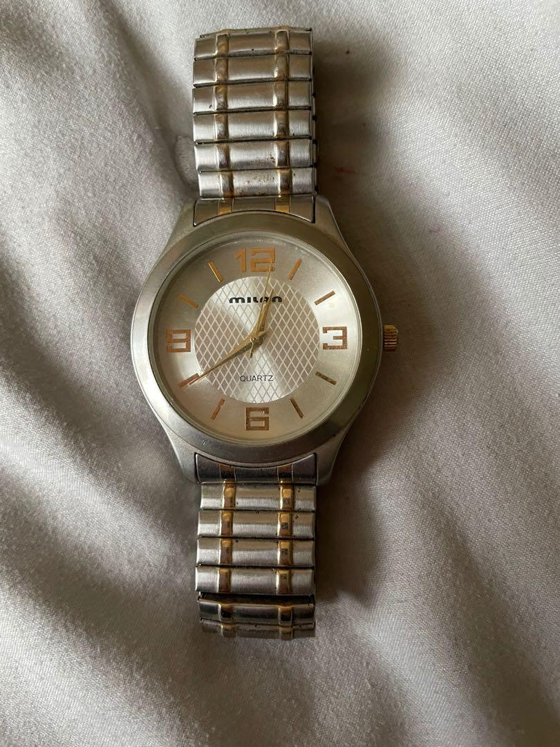 Milan sterling silver men's watch