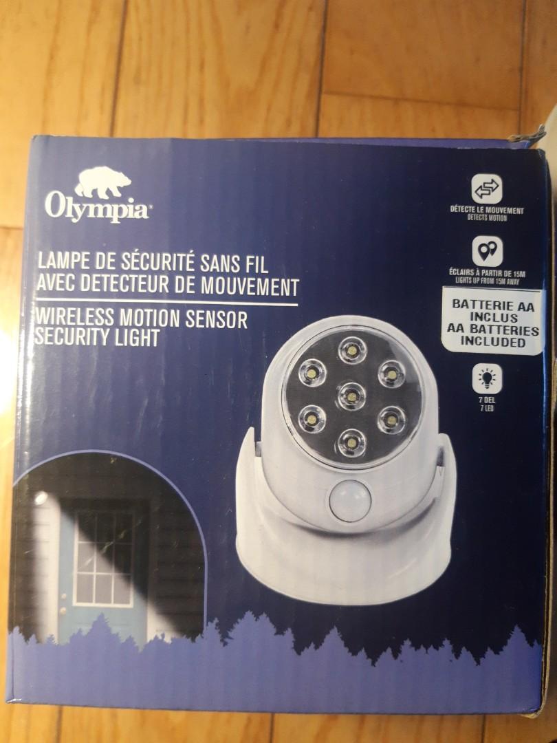 Motion activated cordless LED sensor light