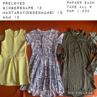 Preloved dresses size 12