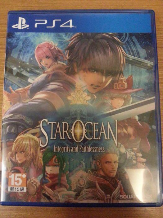 PS4 星海遊俠5 誠實與背信 中文版 star ocean 銀河遊俠5 光碟無刮